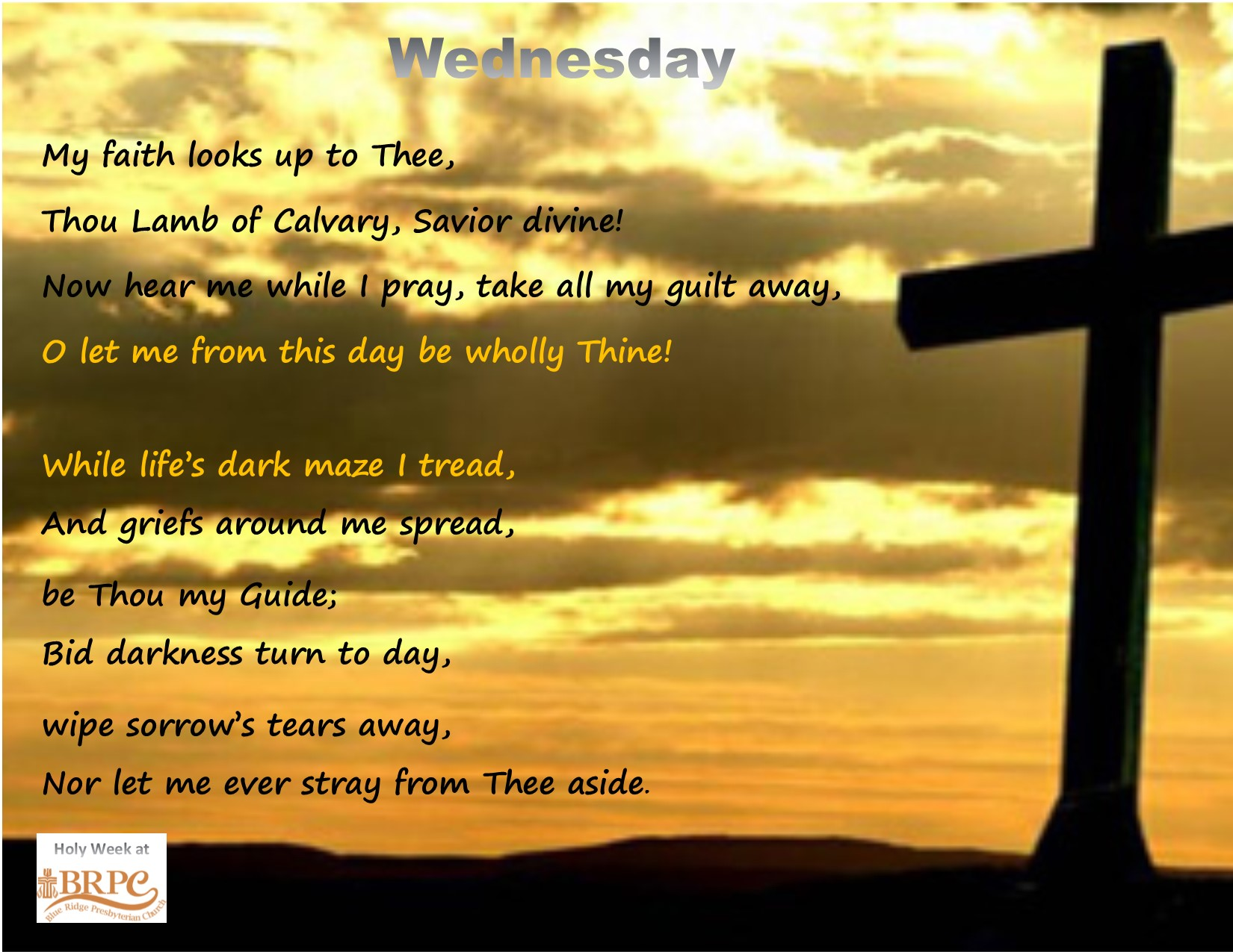 Holy Week: Great Wednesday